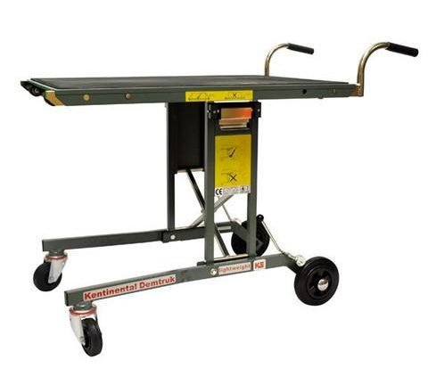 Work place injuries, Salesmaker Carts, 300lb capacity, transport cart, heavy equipment transport, roll off platform